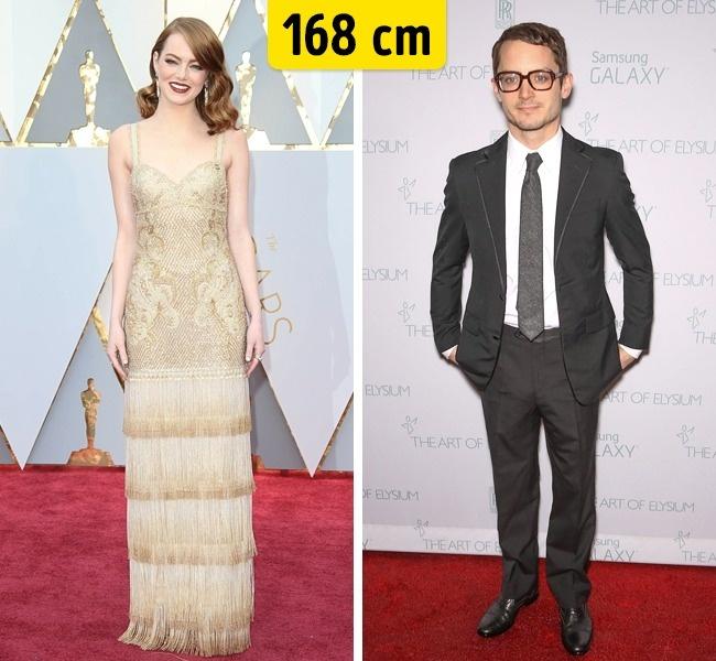 Emma Stone ir Elijah Wood