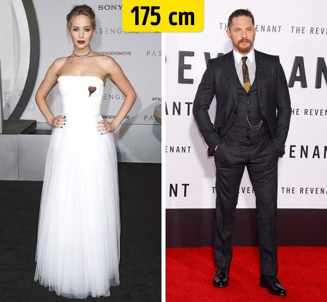 Jennifer Lawrence ir Tom Hardy