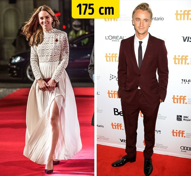 Kate Middleton ir Tom Felton