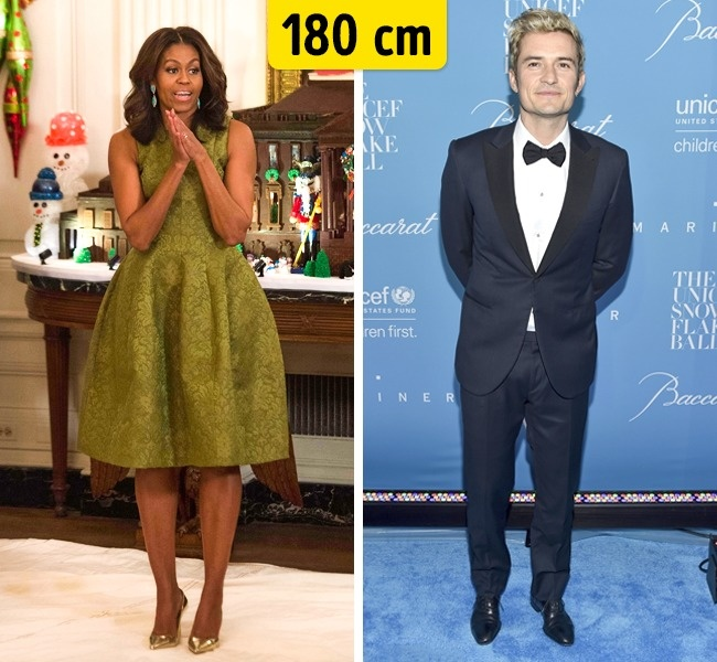 Michelle Obama ir Orlando Bloom