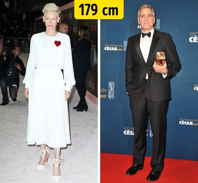 Tilda Swinton ir George Clooney