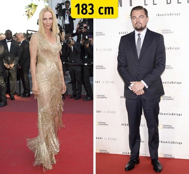 Uma Thurman ir Leonardo DiCaprio