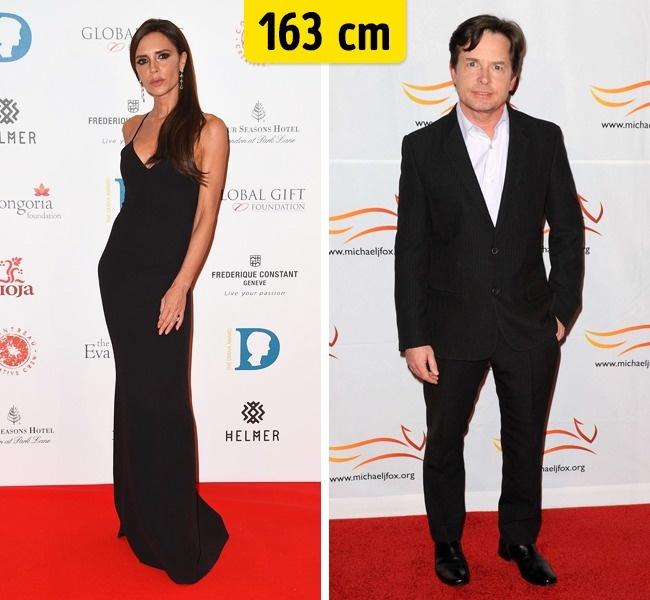 Victoria Beckham ir Michael J. Fox