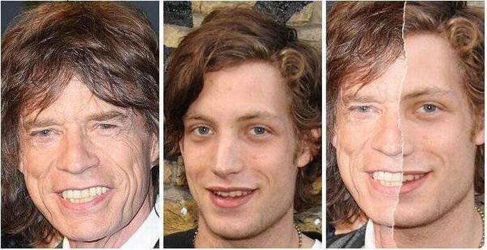 Mick Jagger ir jo sūnus James