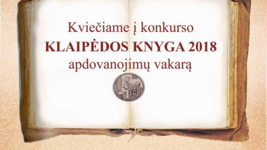 Klaipėdos knyga 2018 apdovanojimų vakaras