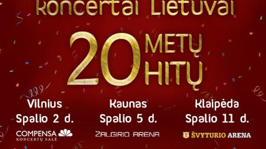 Lietaus gimtadienio koncertai Lietuvai. 20 metų 20 hitų | KAUNAS