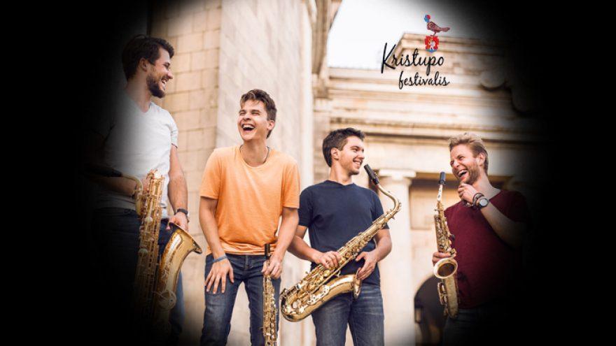 Kristupo festivalis: THE WHOOP GROUP NUSIKALTIMAI. Saksofonų kvartetas be taisyklių