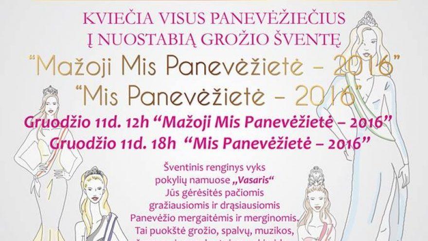 Panevėžietė 2016 – Mini Miss Princess