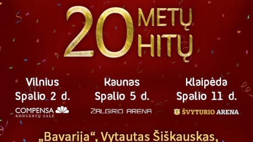 Lietaus gimtadienio koncertai. 20 metų 20 hitų   KLAIPĖDA