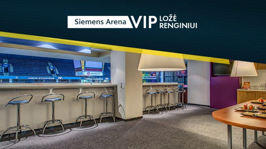 Vienkartinė ložės nuoma Siemens arenoje
