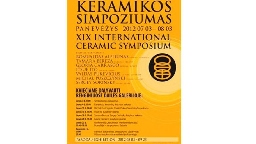 XIX Panevėžio tarptautinis keramikos simpoziumas