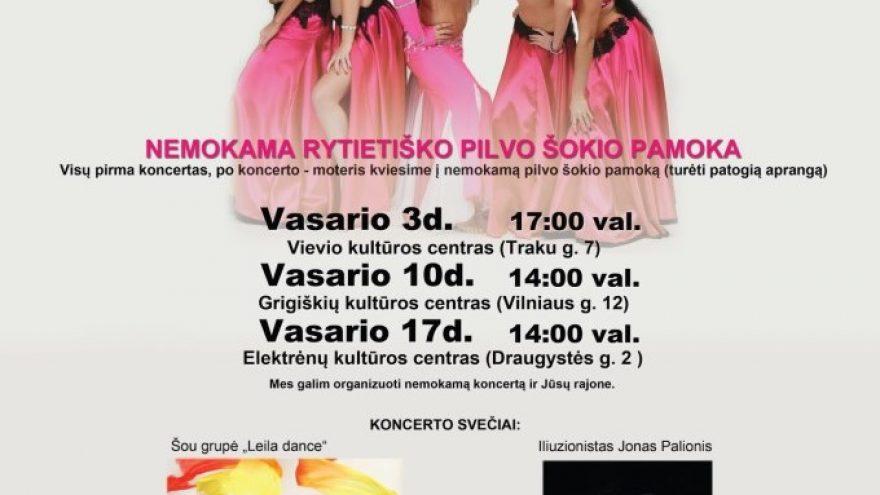 Rytietiškų šokių ir magijos koncertas