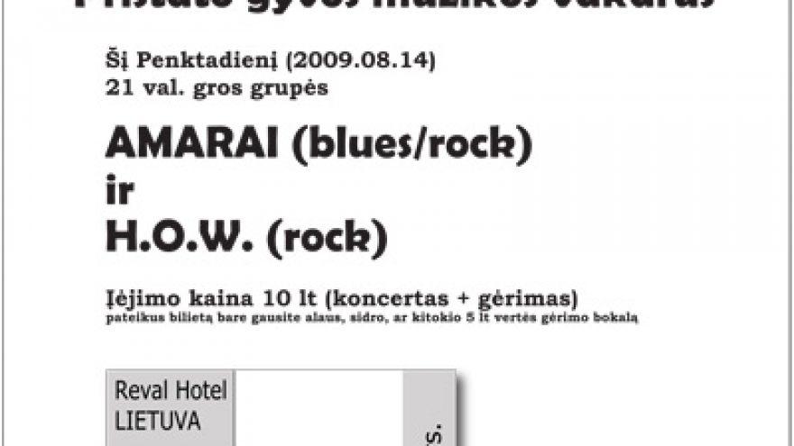 Blues/Rock penktadienio koncerte klube ROUTE 66