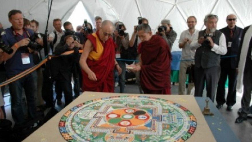 Tibeto mandalos kūrimas