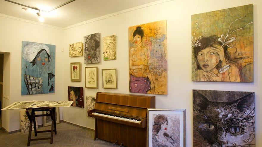 Moteriška popietė grafikės E.Suchockytės galerijoje
