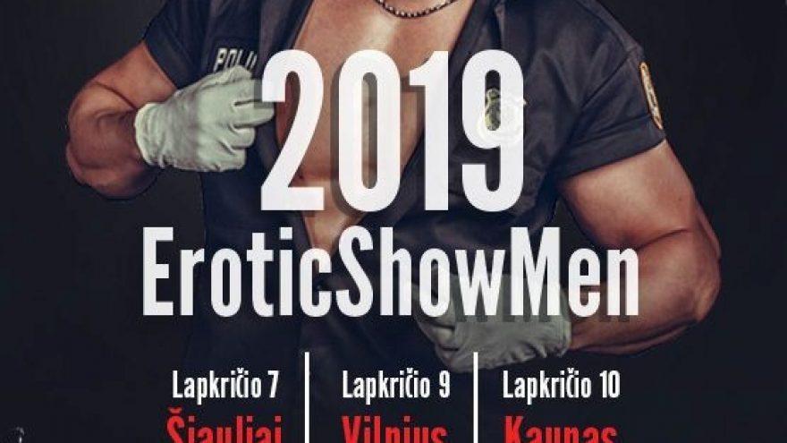 EROTICshowMEN 2019. Tarptautinis vyrų striptizo čempionatas