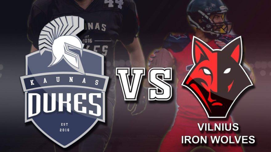 Amerikietiškas futbolas: Kaunas Dukes vs Vilnius Iron Wolves