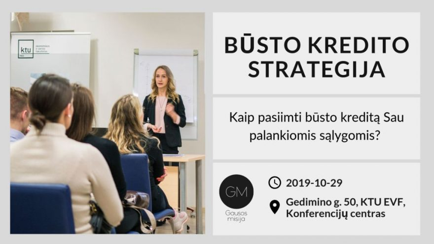 Būsto kredito strategija