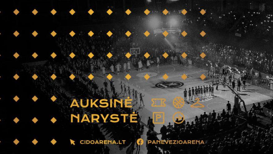 """2019/2020 metų sezono """"Cido"""" arenos """"Auksinė"""" narystė"""