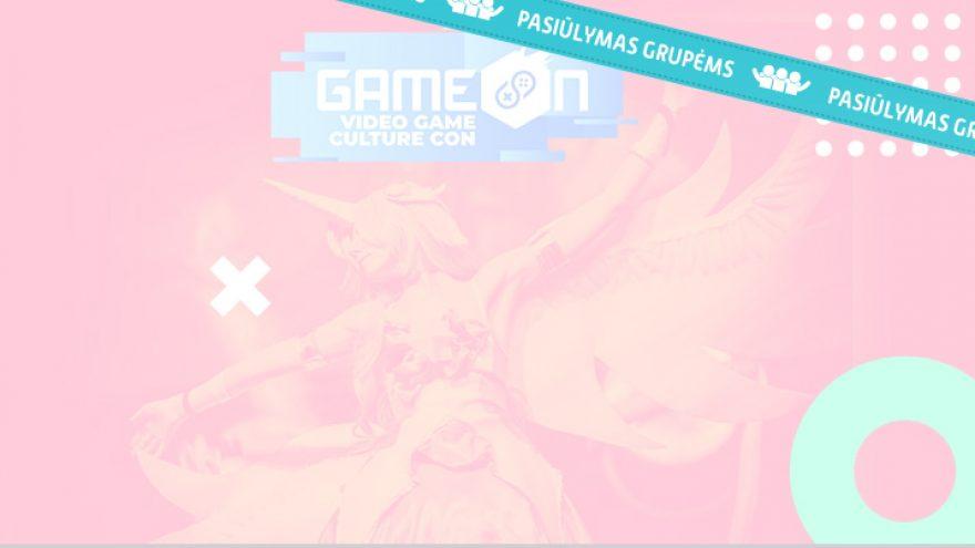 Pasiūlymai grupėms.  GameOn – žaidimų kultūros konventas