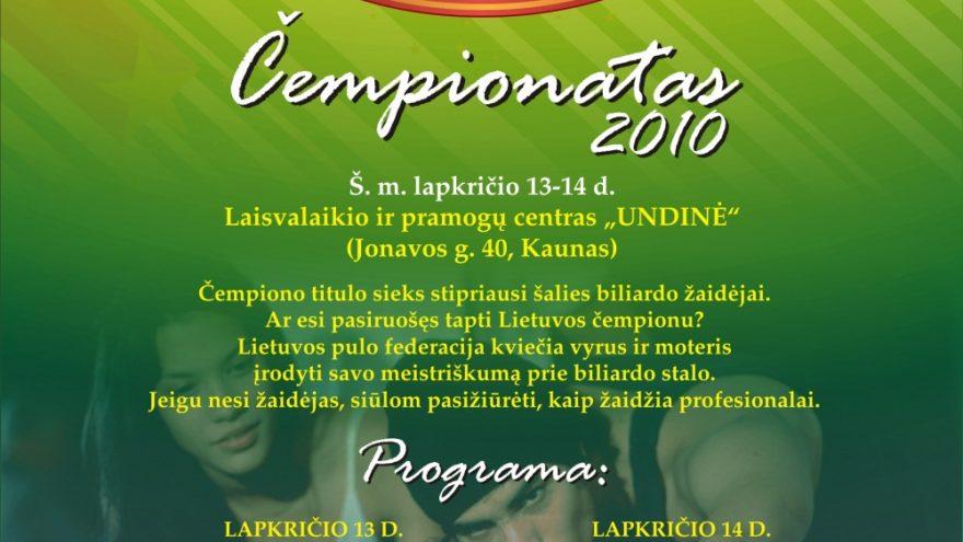 Lietuvos Pool-9 čempionatas
