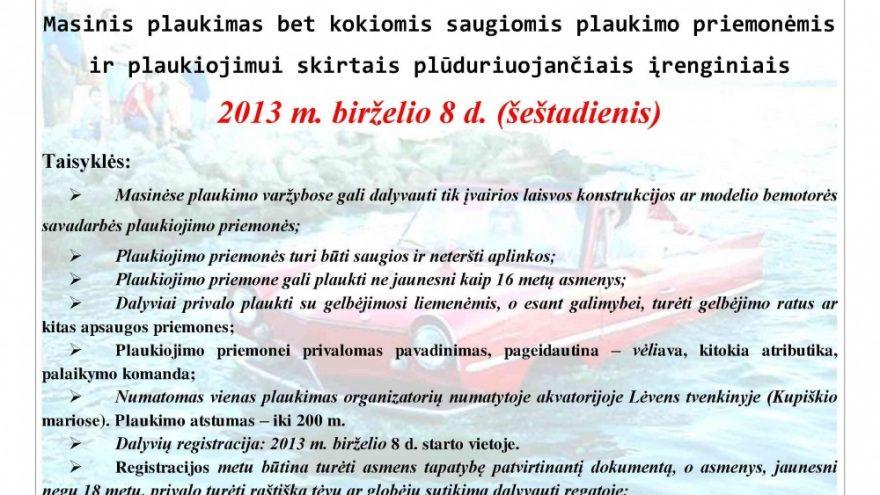 Aktyvaus laisvalaikio diena Kupiškio mieste