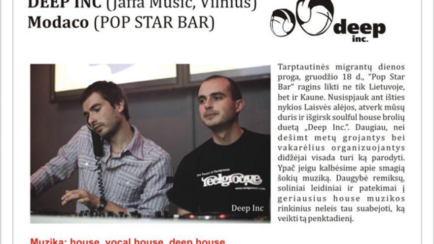 DEEP INC @ POP STAR BAR