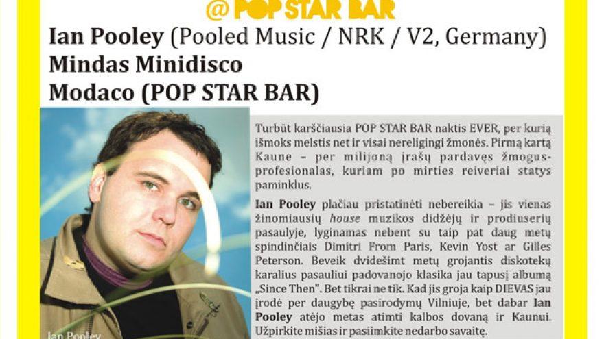 IAN POOLEY @ POP STAR BAR