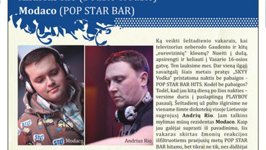 SKYY VODKA presents: POP STAR BAR HITS
