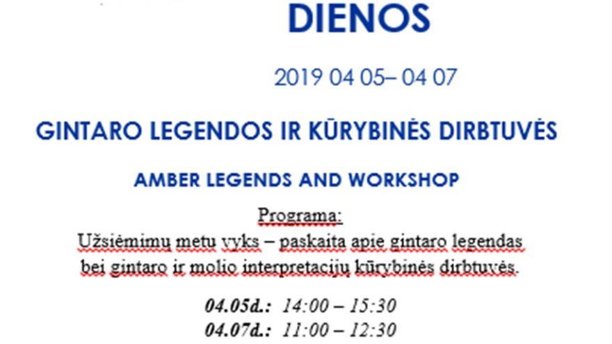 Gintaro legendos ir kūrybinės dirbtuvės