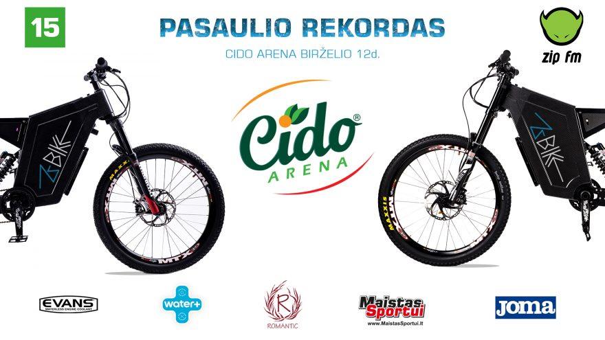 Pasaulio rekordas – ZBIKE elektriniu dviračiu