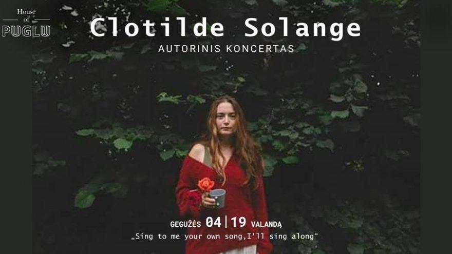 Clotilde Solange | Autorinis koncertas