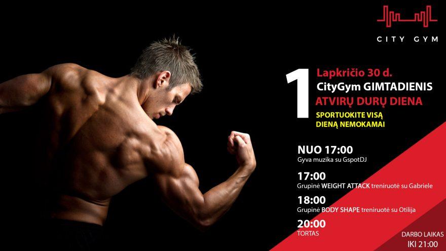 Sportuok nemokamai – CityGym 1-ių metų gimtadienis
