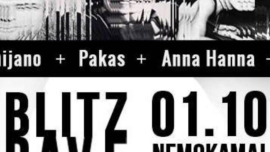 "Nemokamas vakarėlis Lofte ""Blitz Rave 2015"""
