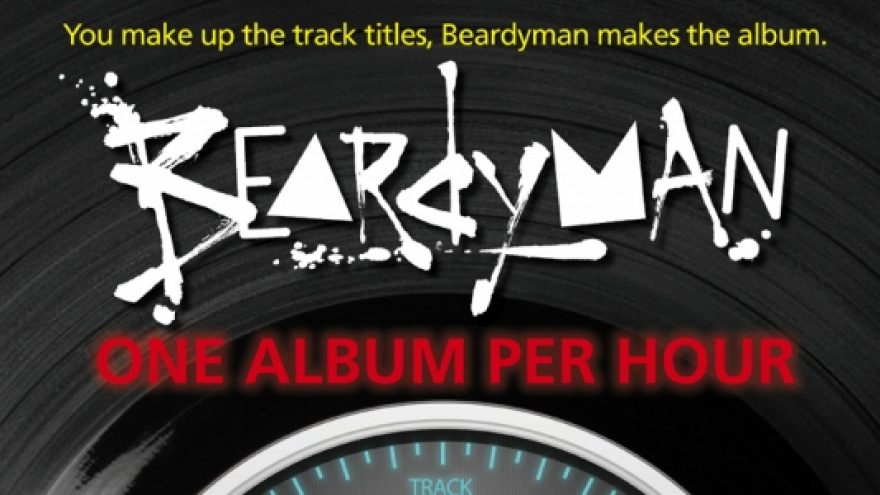 Beardyman – one album per hour – šou