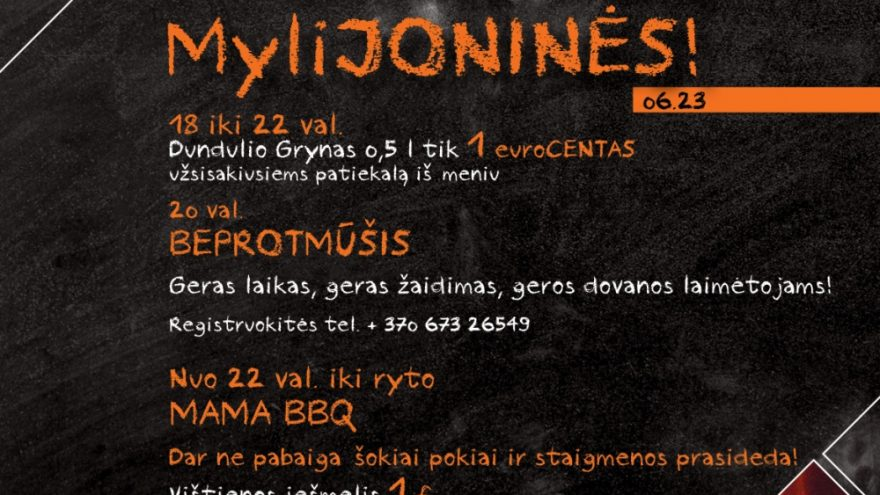 MAMA GRILL MyliJONINĖS