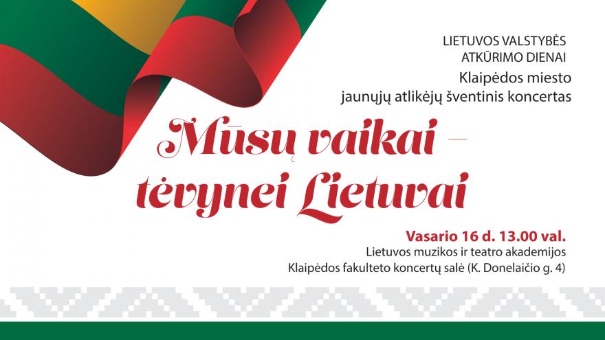 """29-asis šventinis koncertas """"Mūsų vaikai – Tėvynei Lietuvai"""""""
