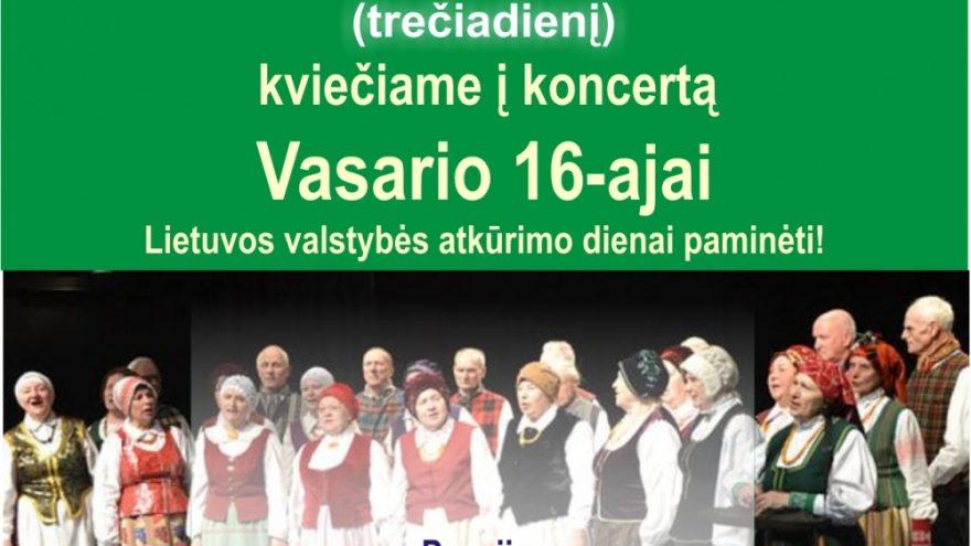 Koncertas Vasario 16-ajai paminėti