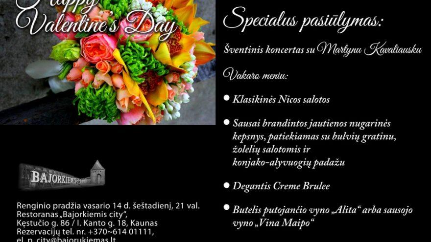 Specialus pasiūlymas Valentino dienos vakarienei