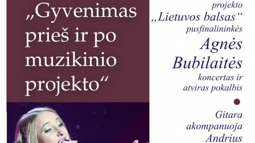 Akustinis Agnės Bubilaitės koncertas