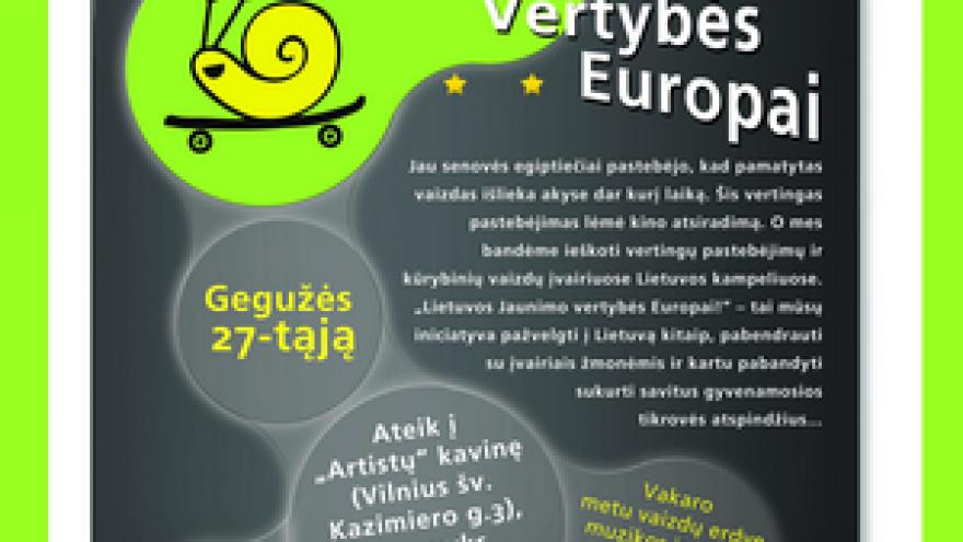 """""""Lietuvos Jaunimo vertybės Europai!"""" (NEmokamas)"""