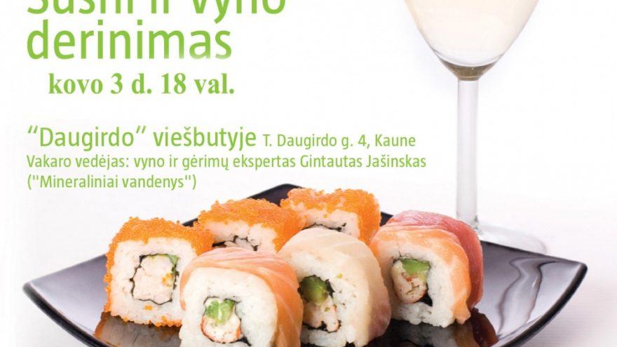 Sushi ir vyno derinimas