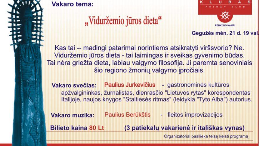 """""""PENKTADIENIO KLUBAS"""" su Paulium Jurkevičium"""