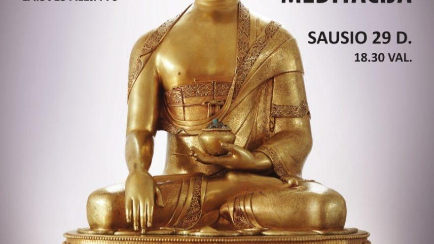 """""""Budistinė meditacija"""" paskaita"""