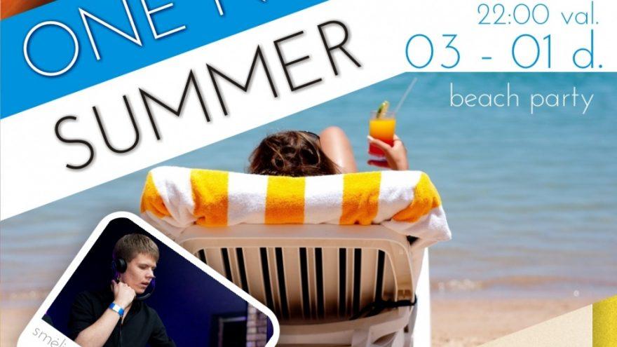 """Paplūdimio vakarėlis """"ONE NIGHT of SUMMER"""""""