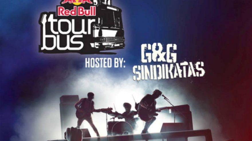 """""""Red Bull Tourbus"""" Vokiečių gatvėje"""