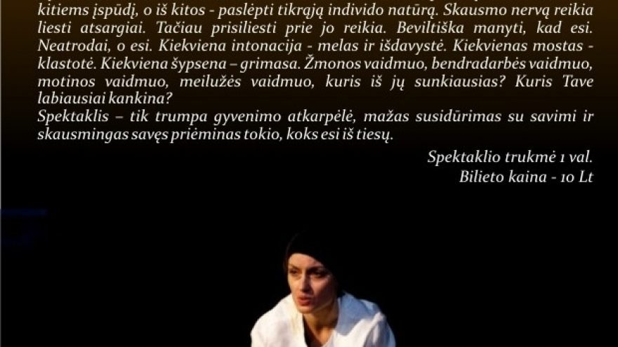 """Persona"", rež. J. Jukonytė"