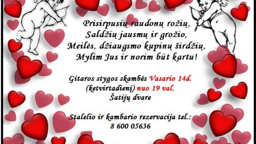 Valentino diena Šatijų dvare