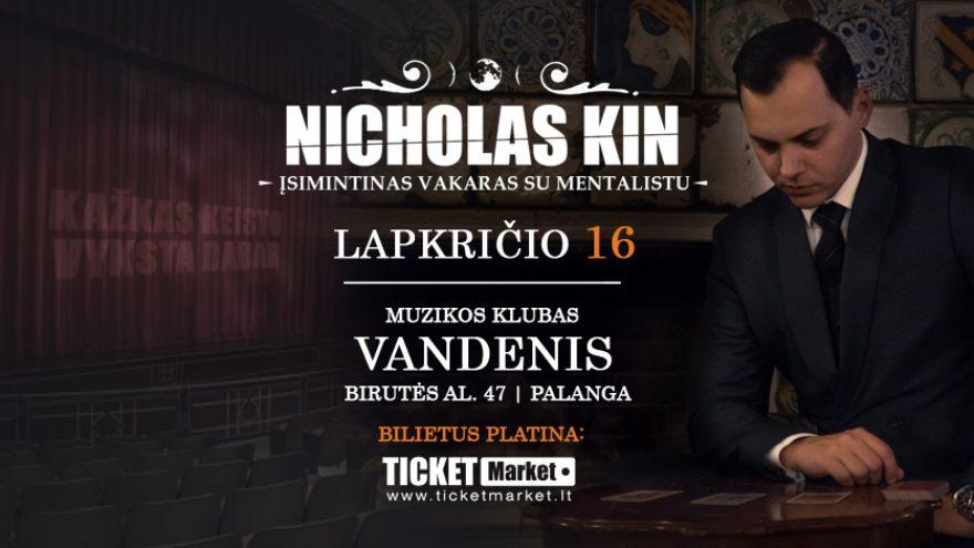 Įsimintinas vakaras su Mentalistu – Nicholas Kin