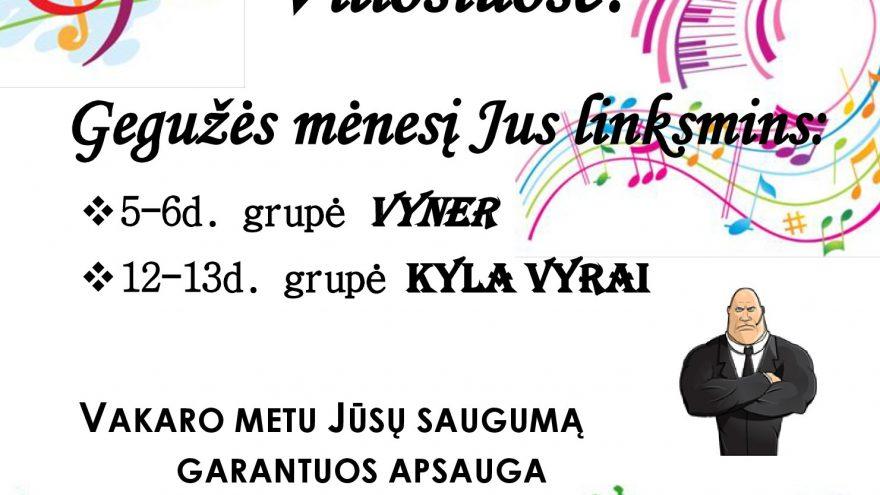 Gyvos muzikos vakaras su grupe VYNER